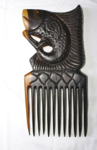 Peigne en bois d'Ebène à dents larges