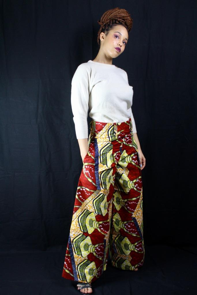 pantalon large imprimés africains